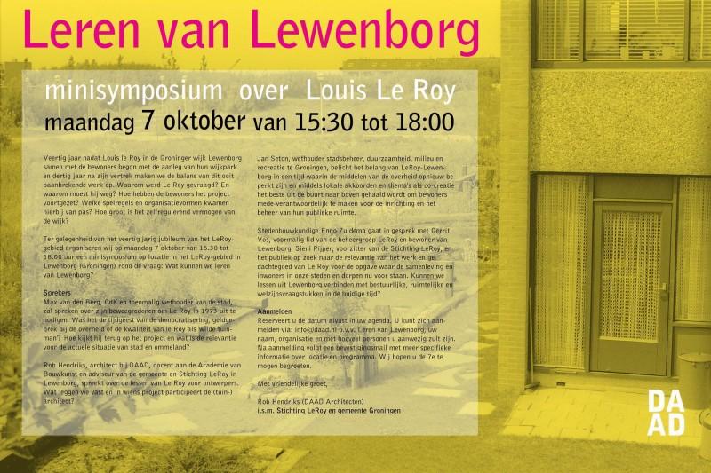 Resize of Uitnodiging Leren v Lewenborg